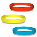 Tyhjät silikoni-rannekkeet väreissä