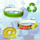 Tekstiilifestivaalin rannekkeet valmistettu kierrätetystä PET-polyesteristä