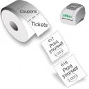 Tulosta itsellesi lippuja ja kuponkeja JMB4+-lämpö-suoralla tulostimella