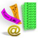 Tyvek-paperiin liitetyt lahjakortit ja liput