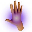 UV-musteen havaitseminen ihmisen iholla.