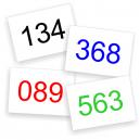 Kilpailunumerot värejä varastossa