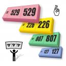 Palkintolipun lipunmyyntierät 3 osaa peräkkäisellä numeroinnilla
