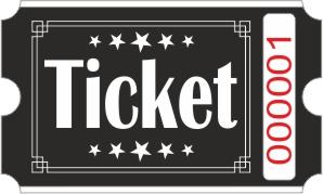 Lippu Ticket - Musta
